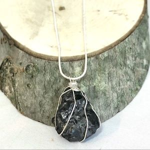 Jewelry - Shungite Wire Wrapped Necklace